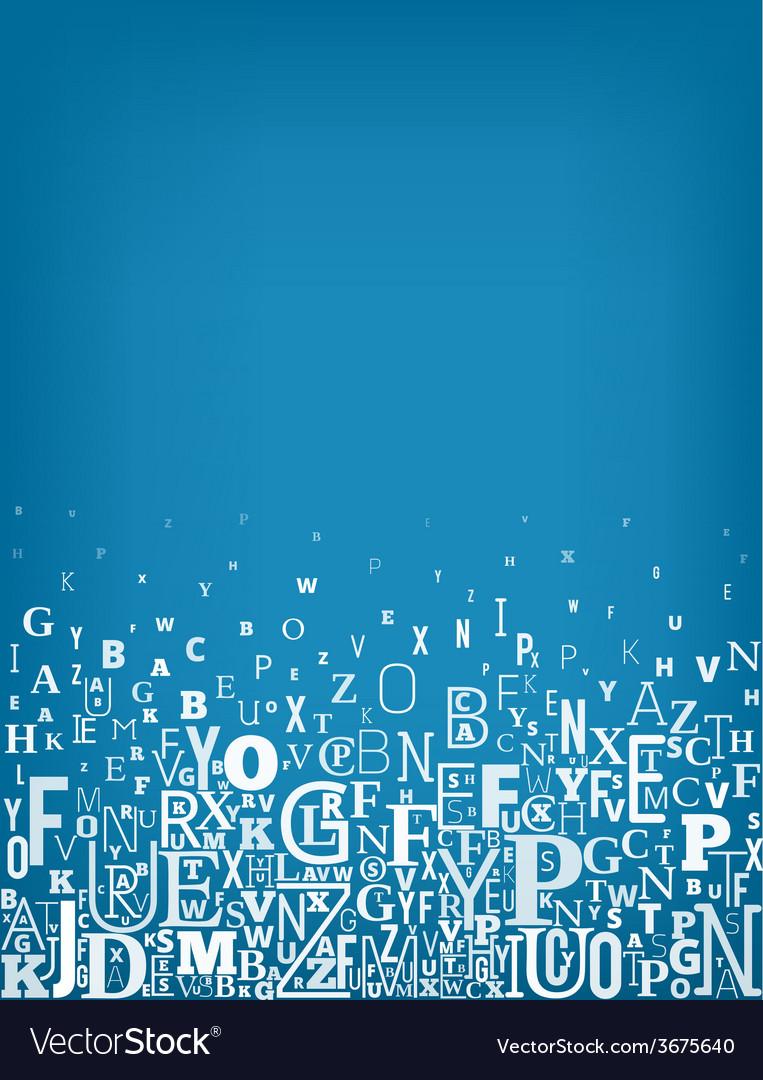 Alphabet background vector | Price: 1 Credit (USD $1)