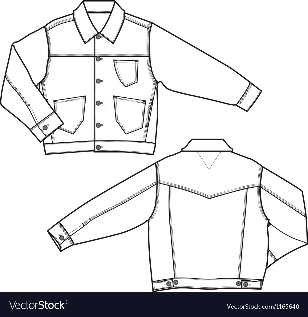 Boy denim jackets vector | Price: 1 Credit (USD $1)
