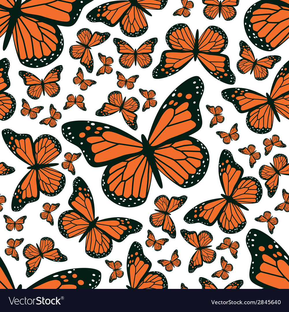 Butterfly seamless pattern vector | Price: 1 Credit (USD $1)