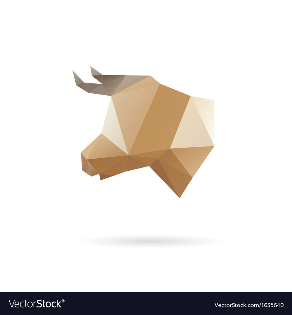 Cow head abstract isolated vector | Price: 1 Credit (USD $1)