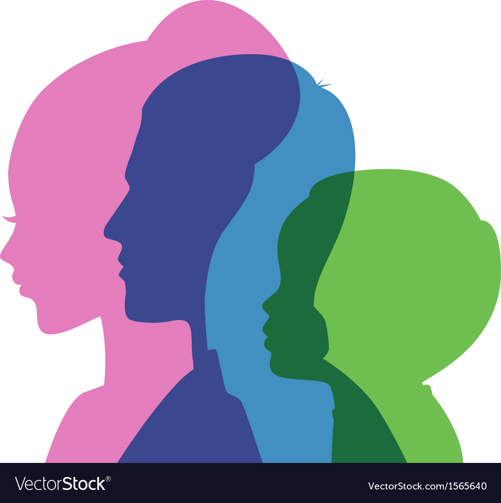 Family icons head vector | Price: 1 Credit (USD $1)
