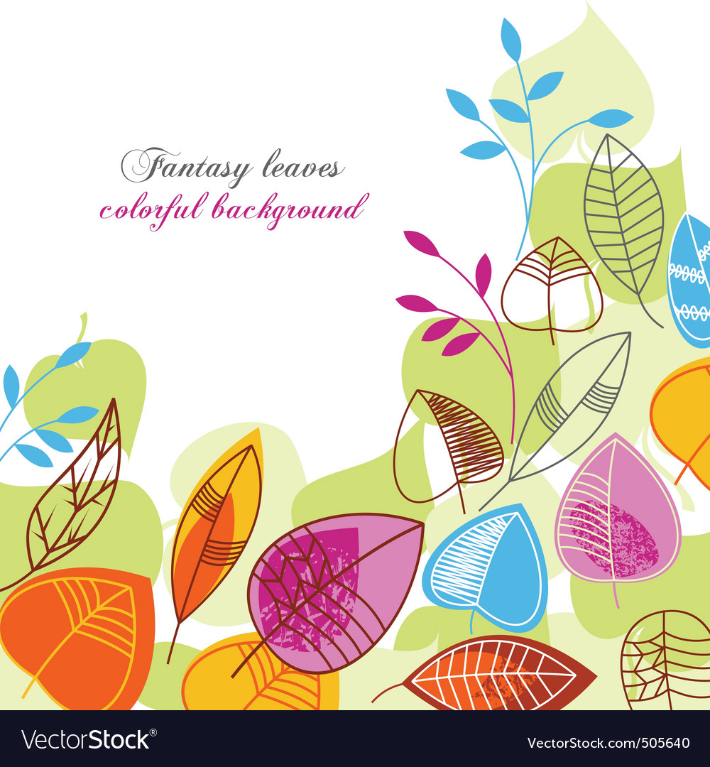 Fantasy leaves vector | Price: 1 Credit (USD $1)