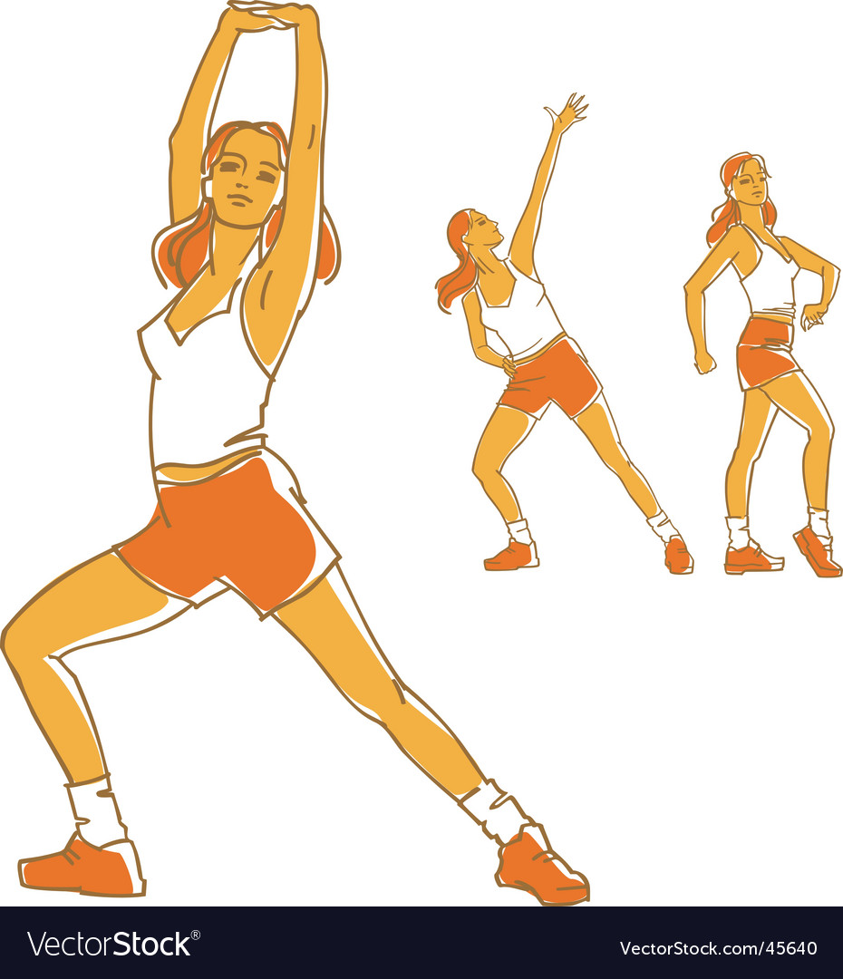 Fitness girls vector | Price: 1 Credit (USD $1)
