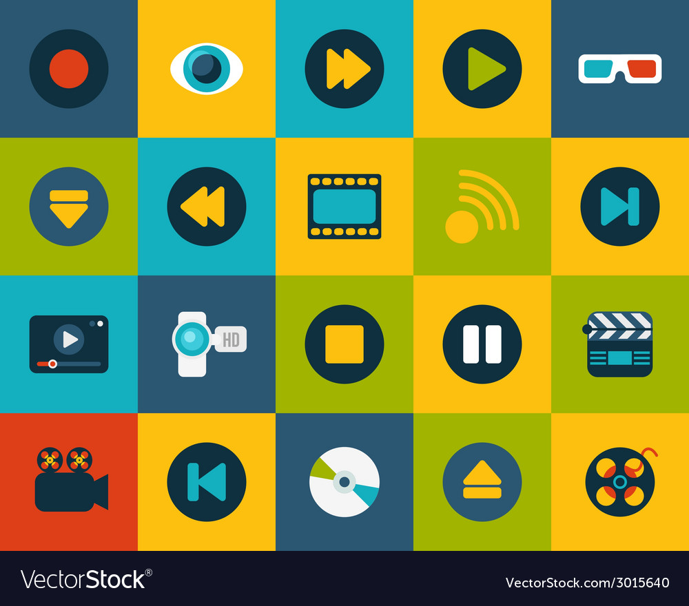Flat icons set 5 vector | Price: 1 Credit (USD $1)