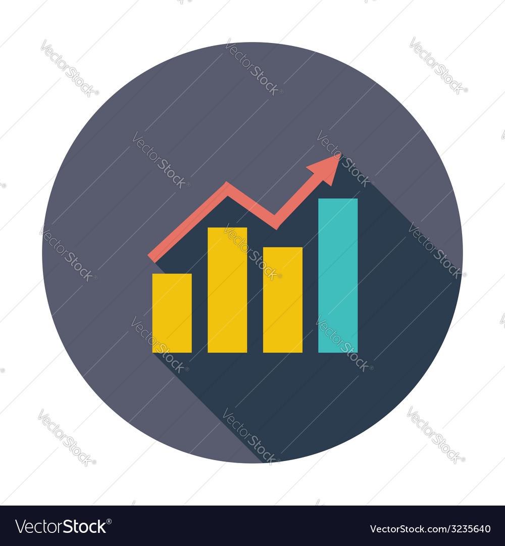 Graph flat single icon vector | Price: 1 Credit (USD $1)