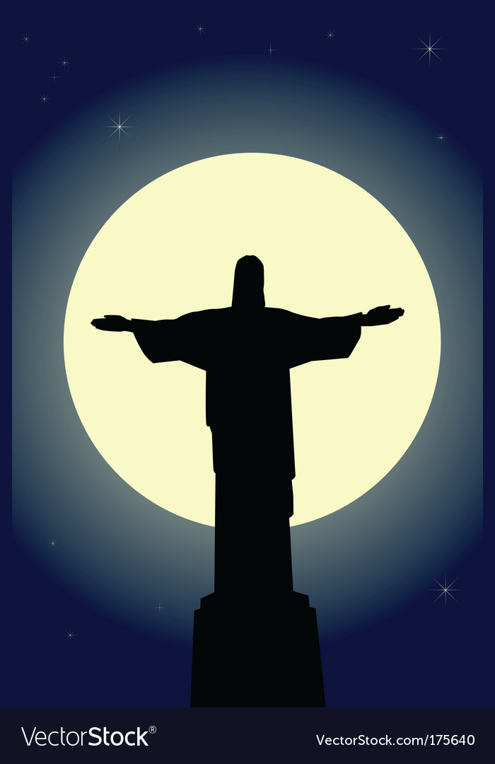 Jesus christ statue vector | Price: 1 Credit (USD $1)