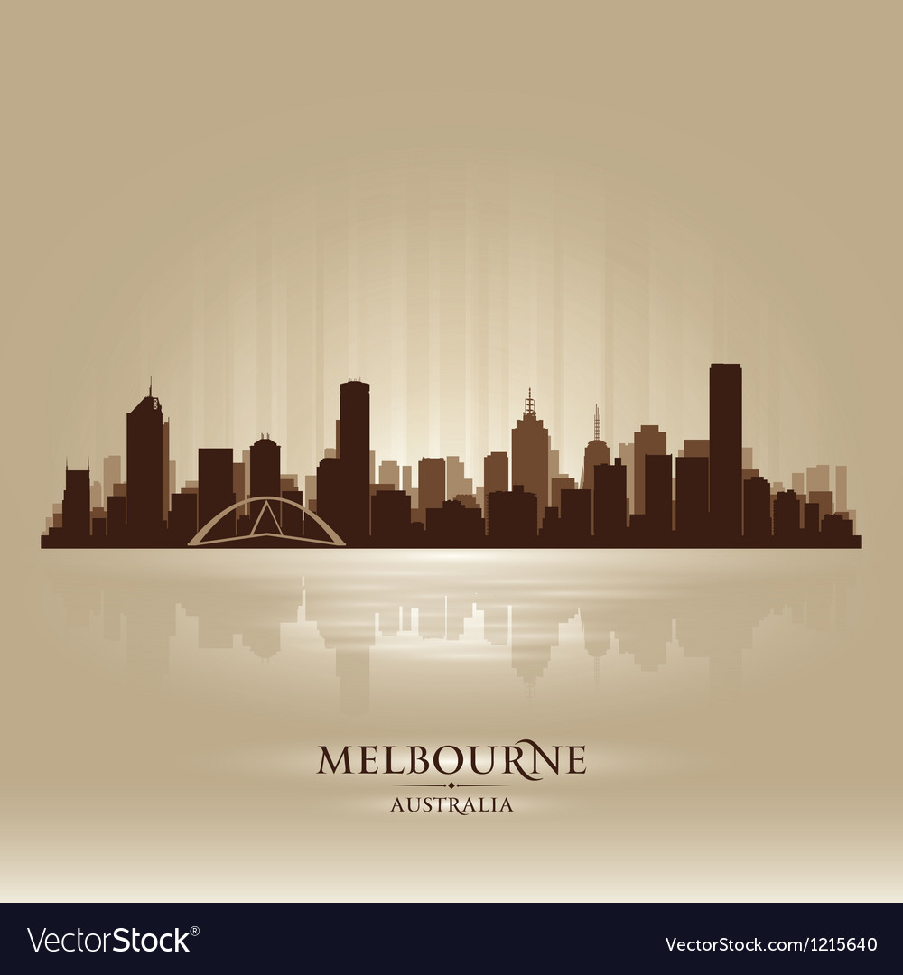Melbourne australia skyline city silhouette vector | Price: 1 Credit (USD $1)