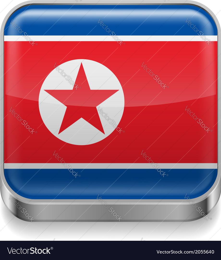 Metal icon of north korea vector | Price: 1 Credit (USD $1)