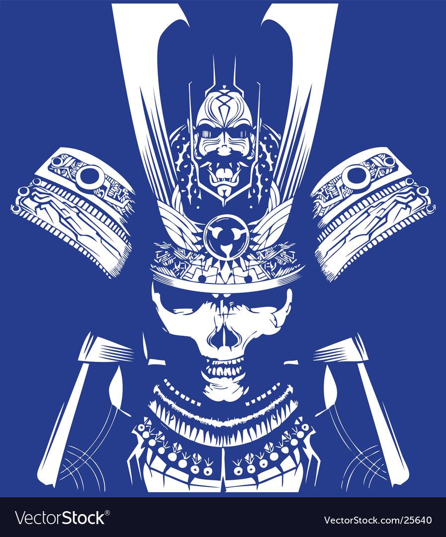 Samurai skull vector | Price: 3 Credit (USD $3)