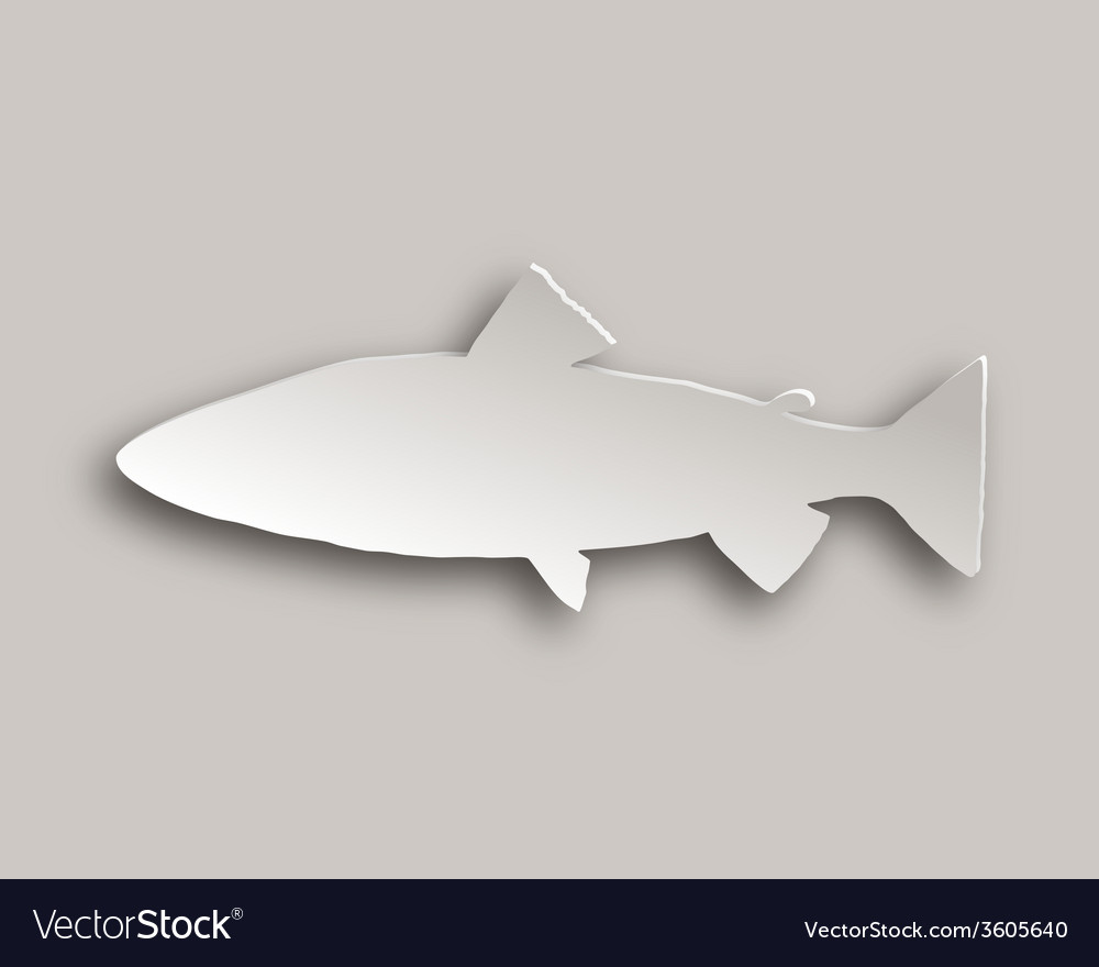 Trout paper style vector | Price: 1 Credit (USD $1)