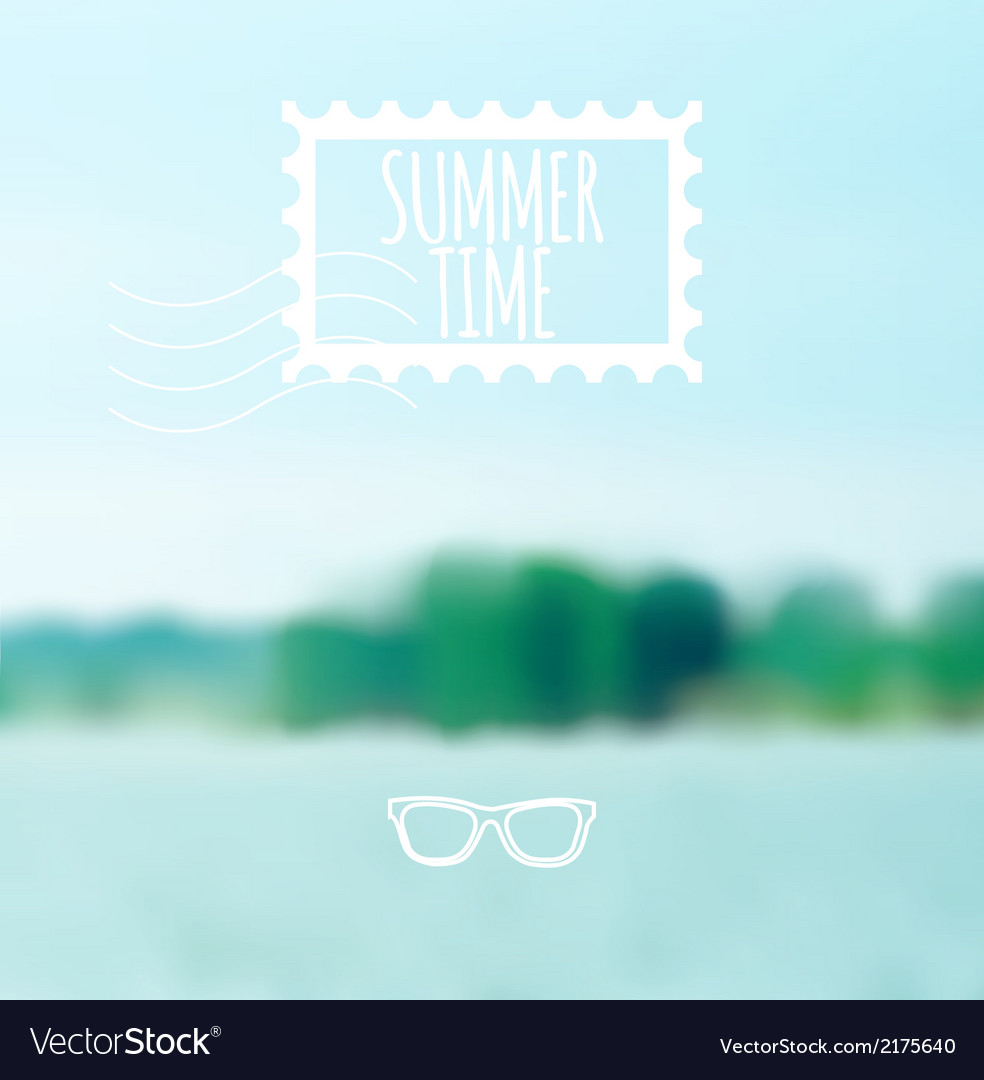 Unfocused summer lake background vector | Price: 1 Credit (USD $1)