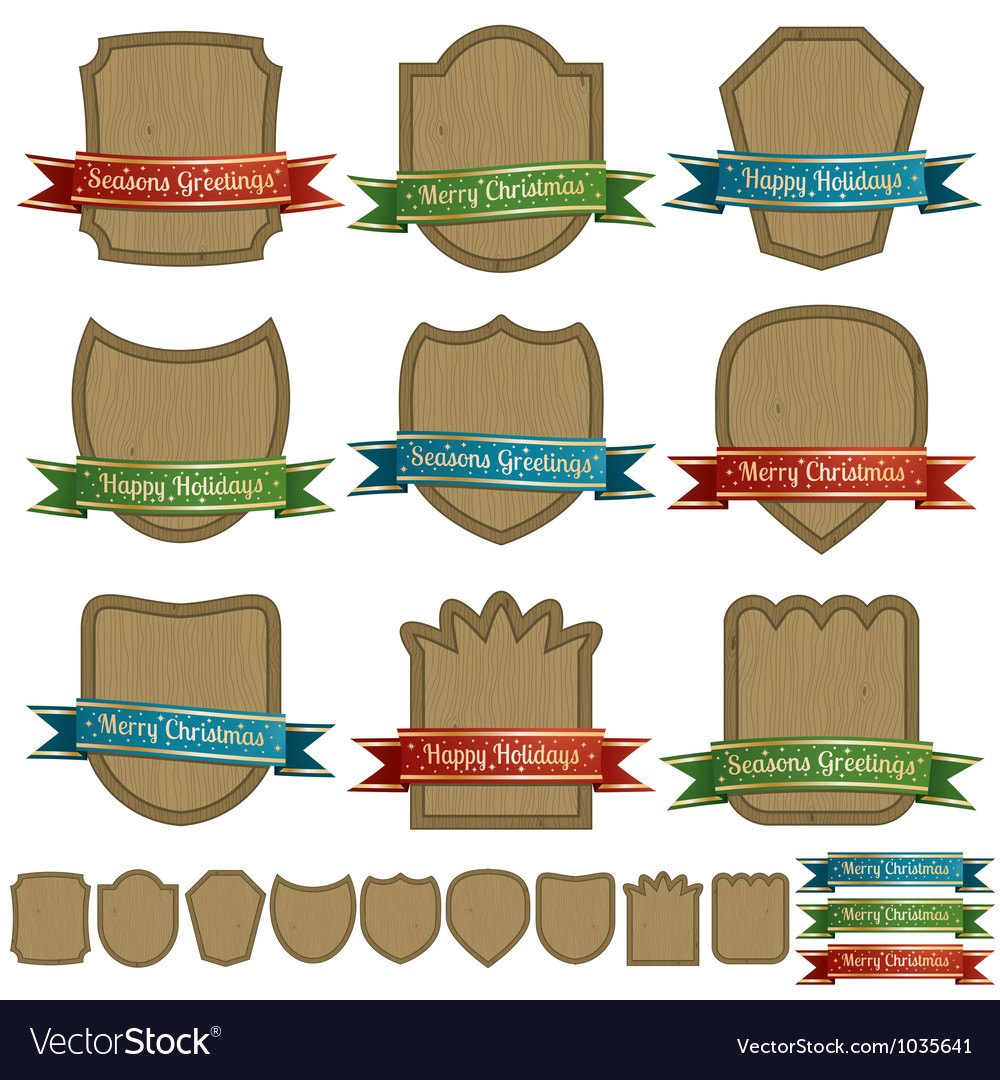Christmas emblems vector | Price: 1 Credit (USD $1)