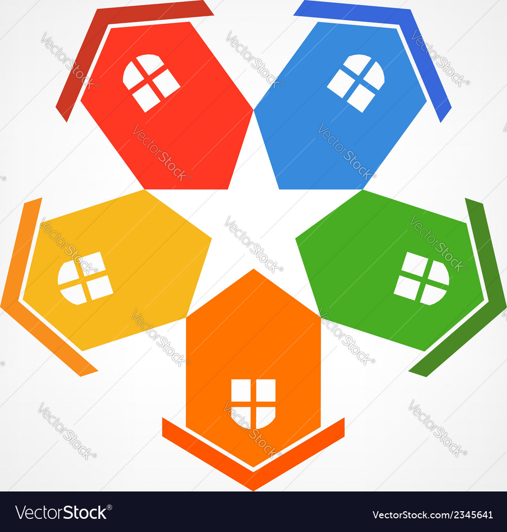 Community group 4 abstract concept of a neighbors vector | Price: 1 Credit (USD $1)