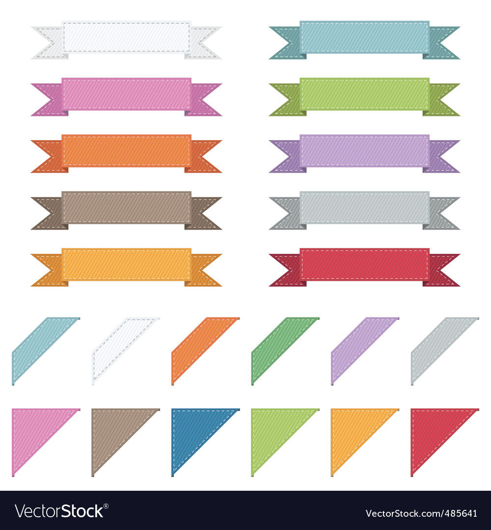 Corners and ribbons vector | Price: 1 Credit (USD $1)
