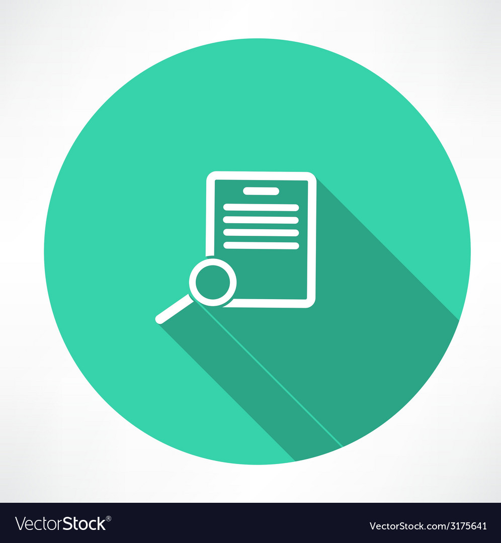 Documents search icon vector | Price: 1 Credit (USD $1)