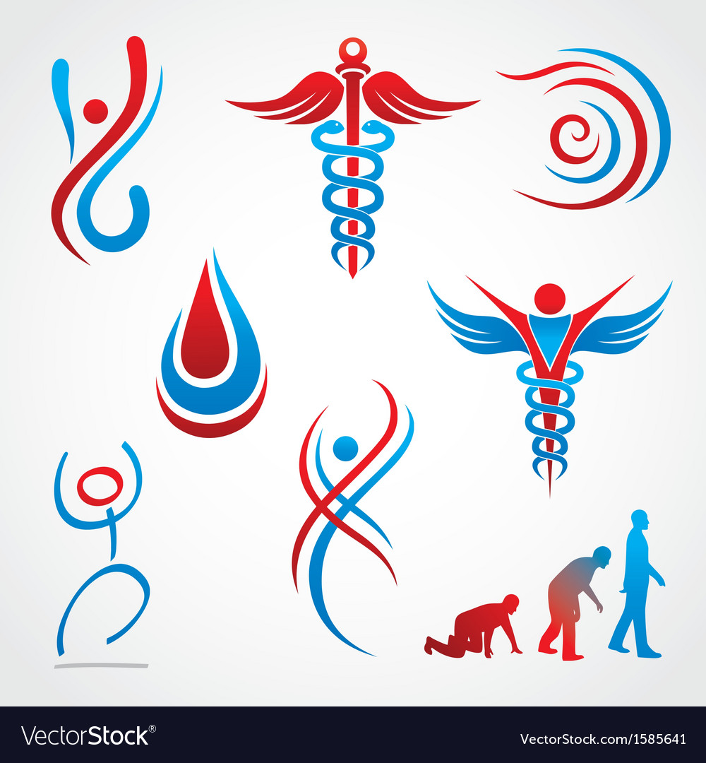 Health medical symbols vector | Price: 1 Credit (USD $1)