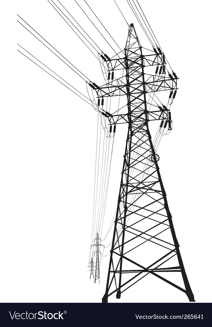 High voltage power line vector | Price: 1 Credit (USD $1)