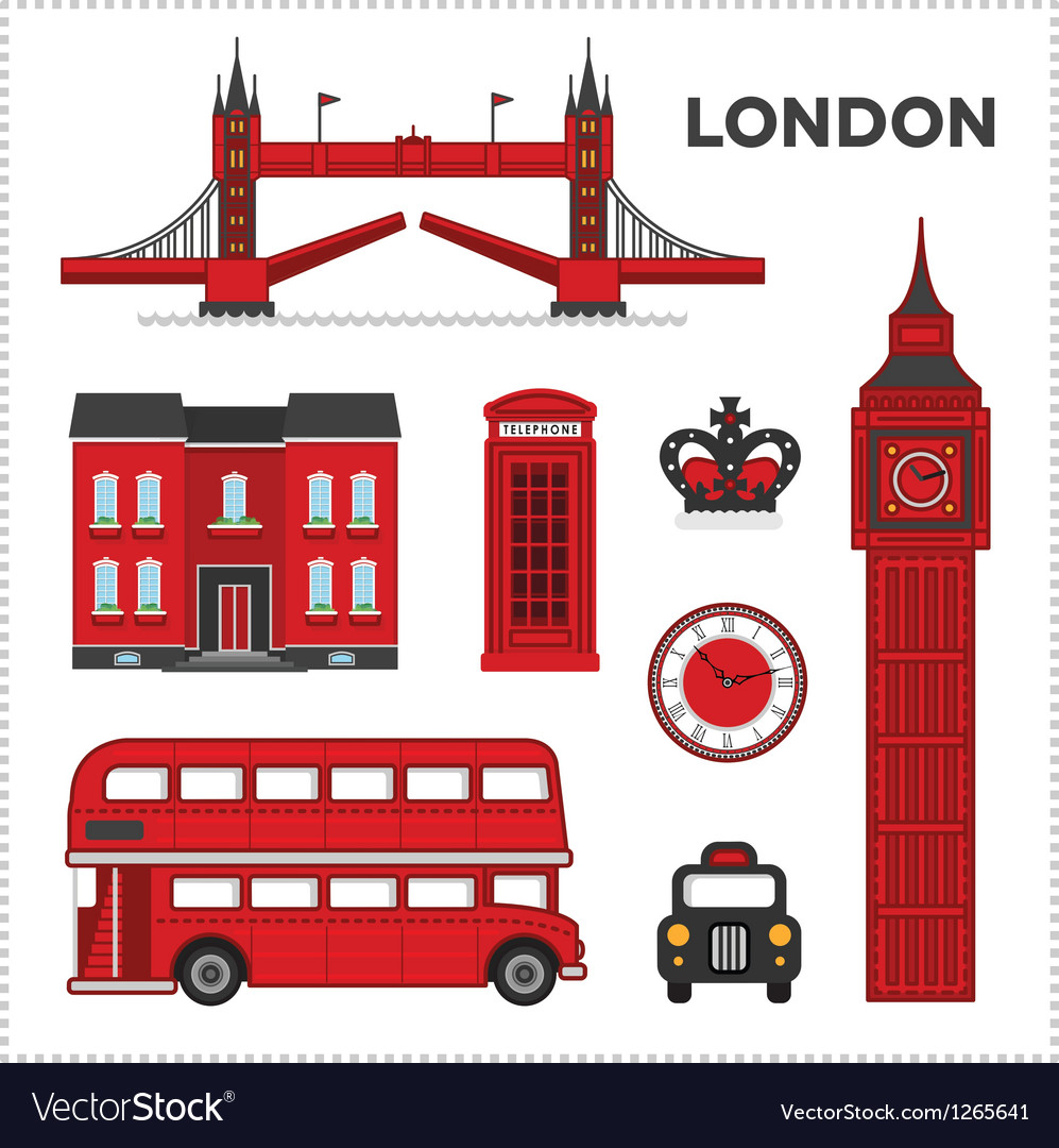 London set vector | Price: 1 Credit (USD $1)
