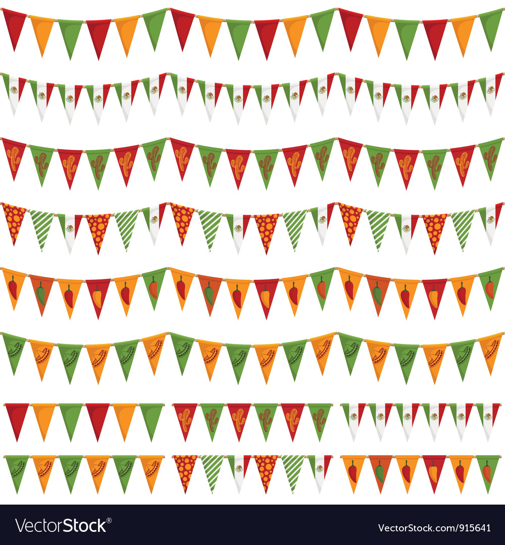 Mexican party bunting vector | Price: 1 Credit (USD $1)