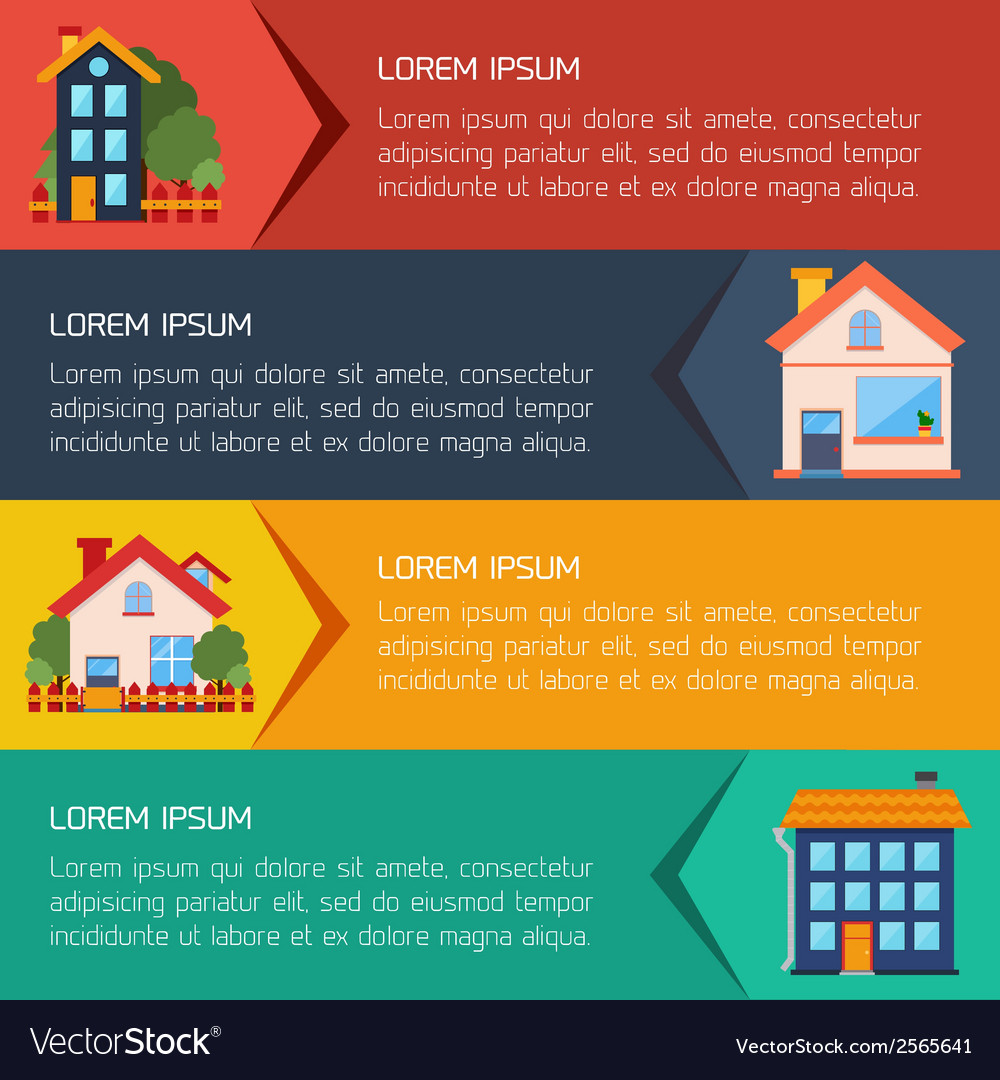 Modern flat city background infographics with text vector | Price: 1 Credit (USD $1)