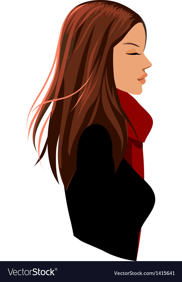 Relaxing woman vector | Price: 1 Credit (USD $1)