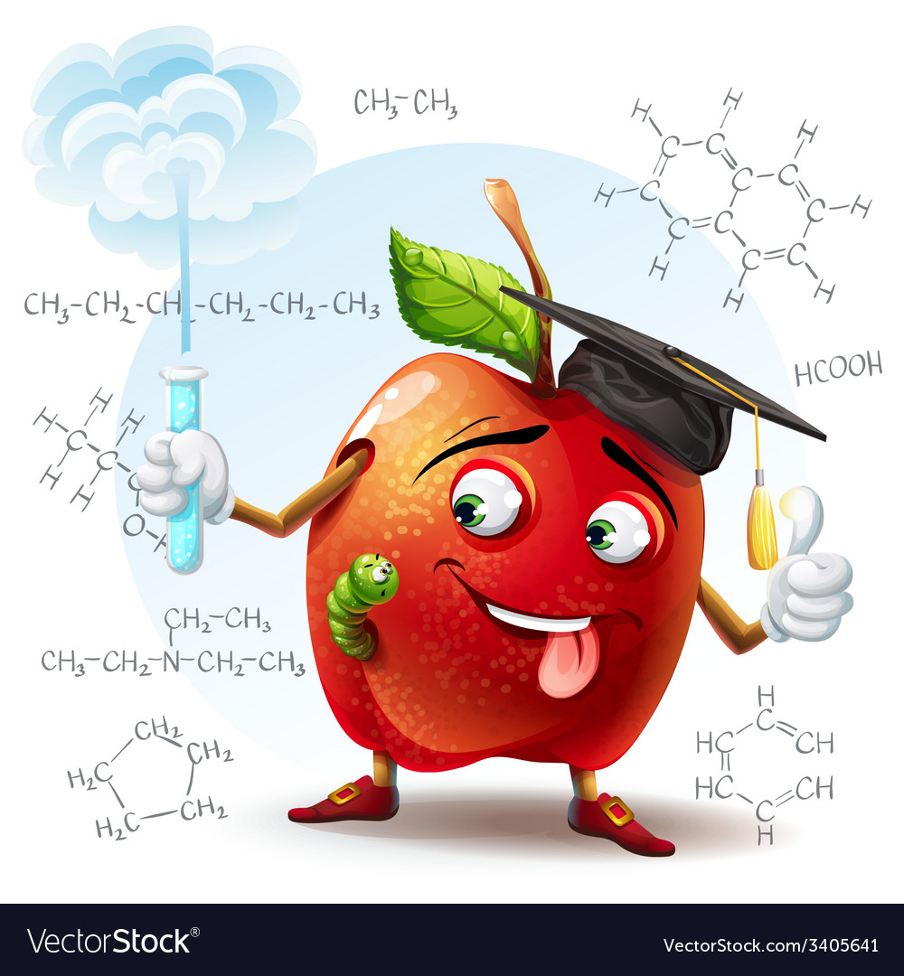 School scholar apple with harmful substance in a vector | Price: 5 Credit (USD $5)