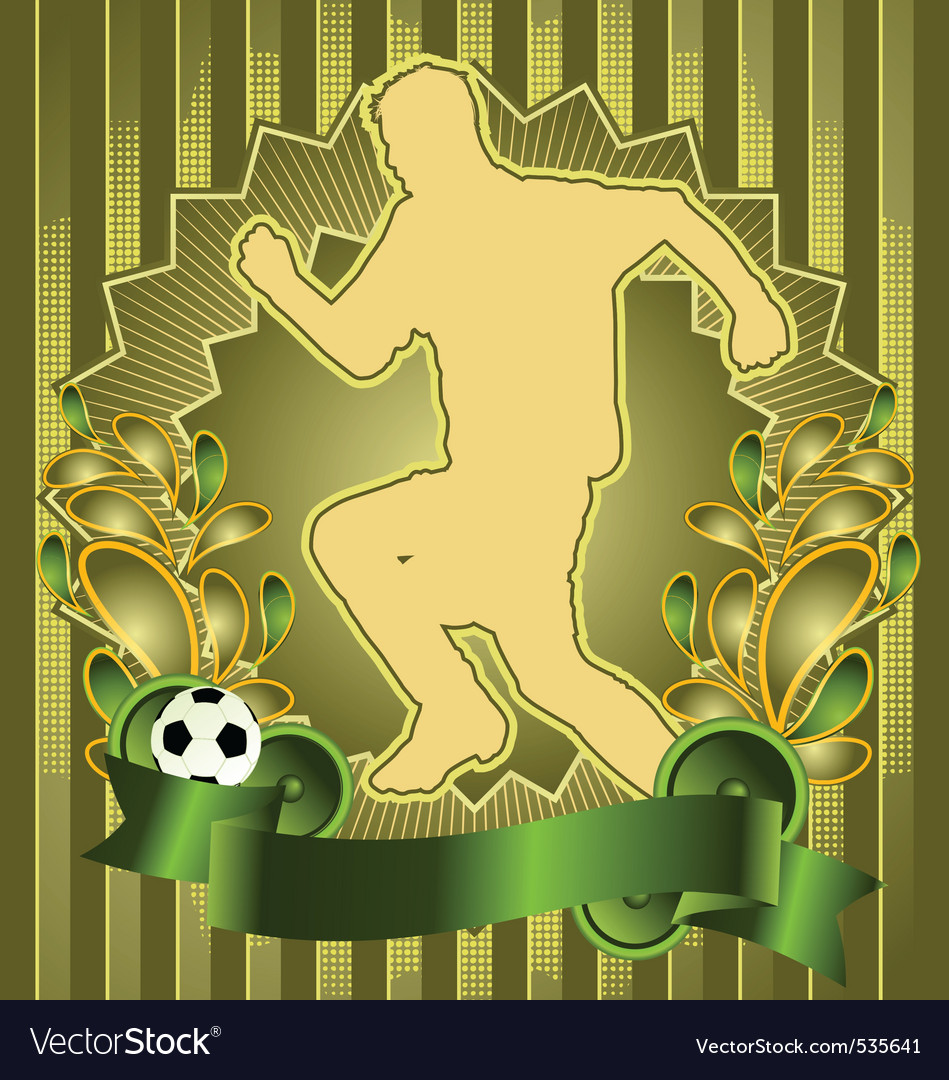 Soccer vintage design vector | Price: 1 Credit (USD $1)