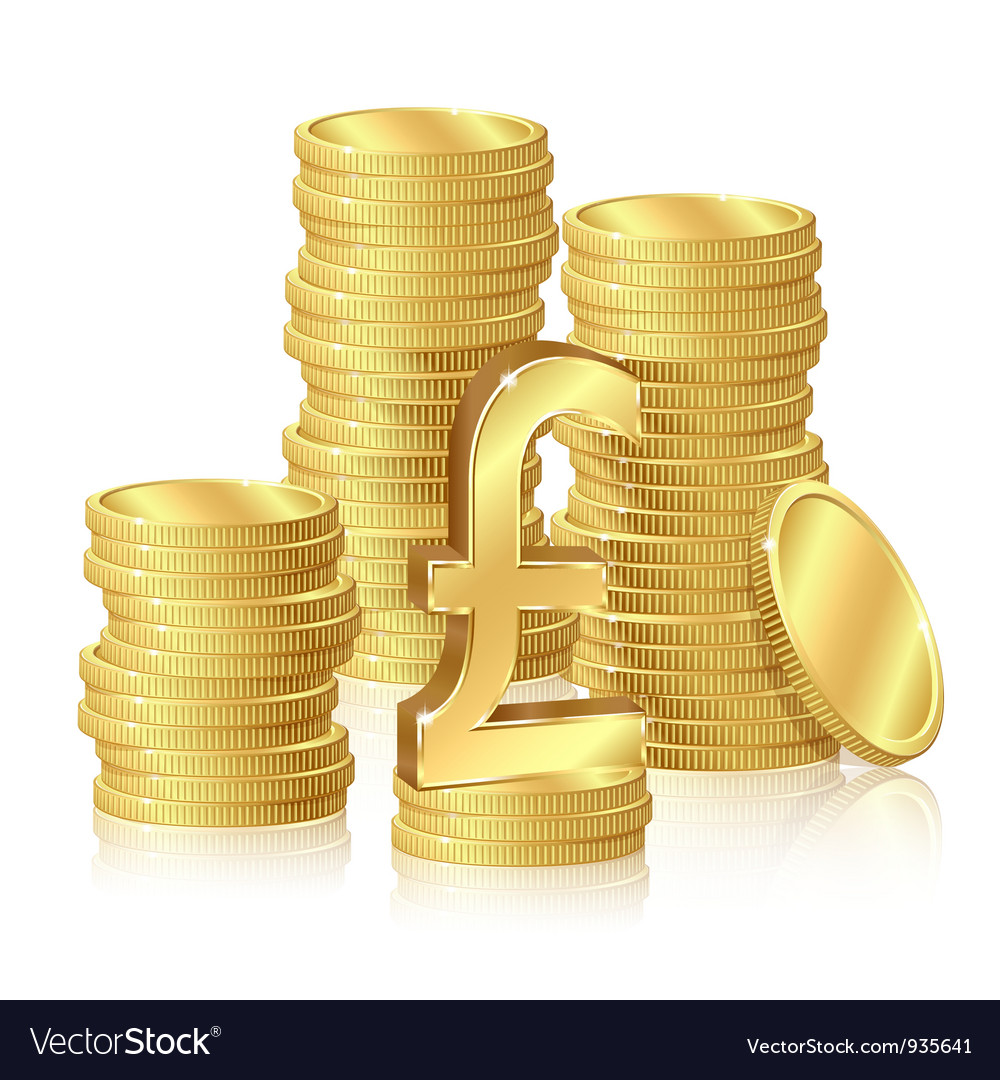 Stacks of gold coins vector   Price: 1 Credit (USD $1)
