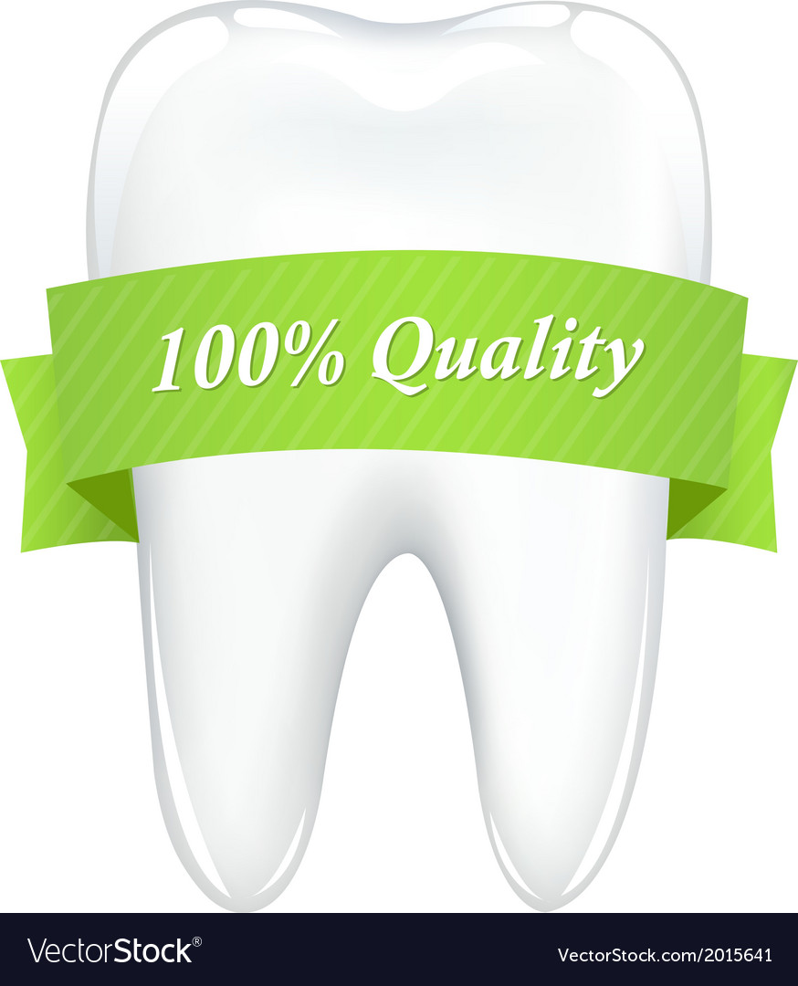 Tooth with tape vector | Price: 1 Credit (USD $1)