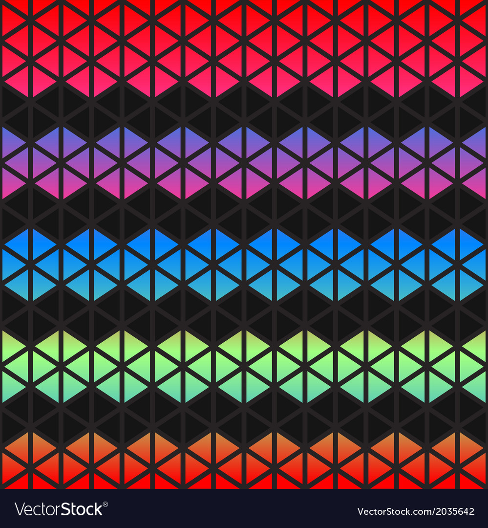 Abstract colorful geometric triangles background vector | Price: 1 Credit (USD $1)