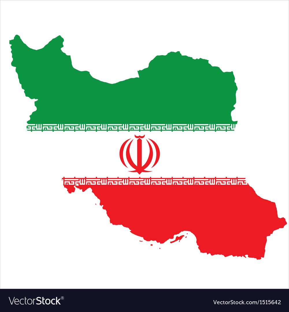 Iran flag vector | Price: 1 Credit (USD $1)