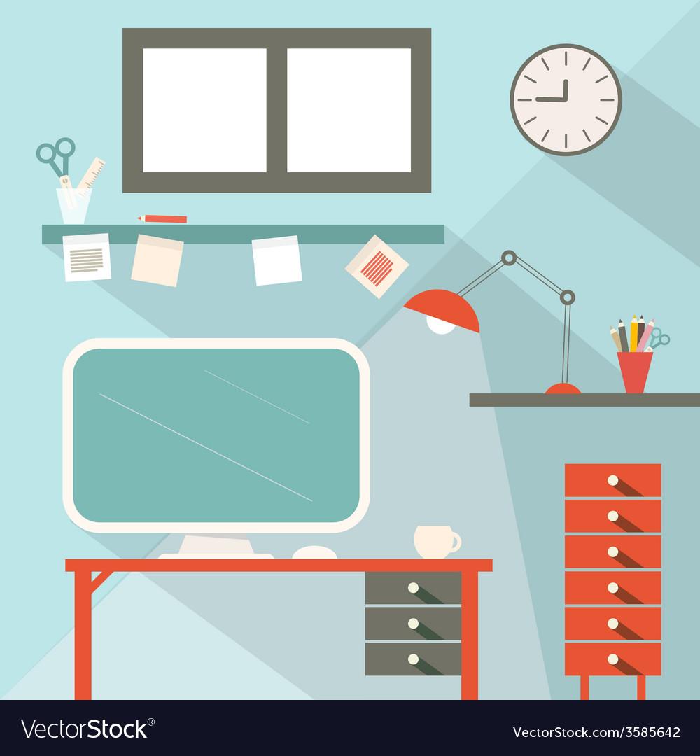 Office flat design vector | Price: 1 Credit (USD $1)