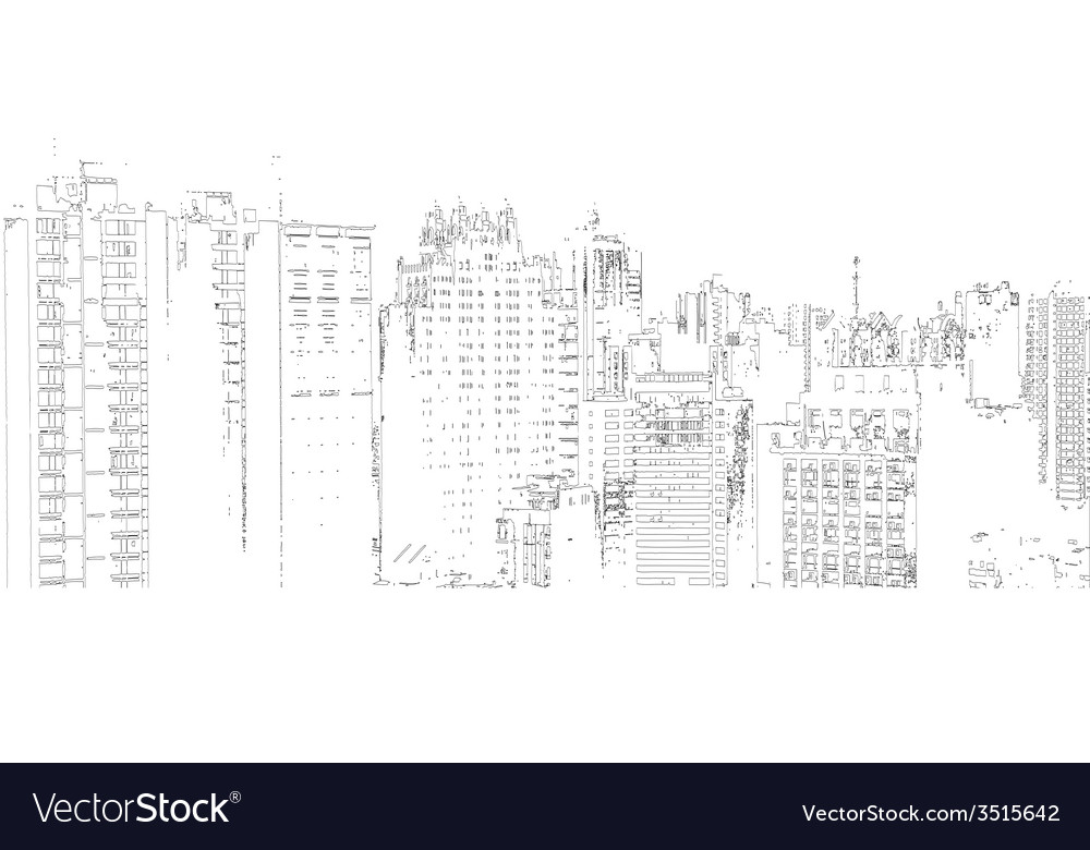 Panorama of the city cartoon vector | Price: 1 Credit (USD $1)
