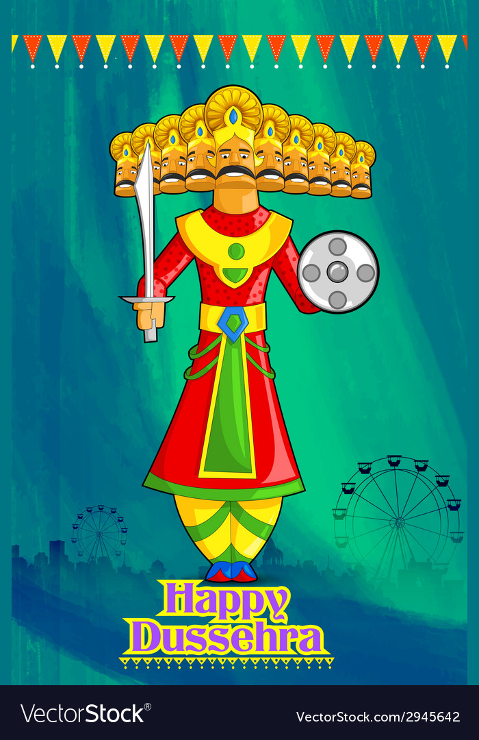 Ravan in dussehra advertisment and promotion vector | Price: 1 Credit (USD $1)