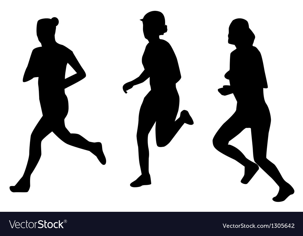 Runners silhouettes vector | Price: 1 Credit (USD $1)