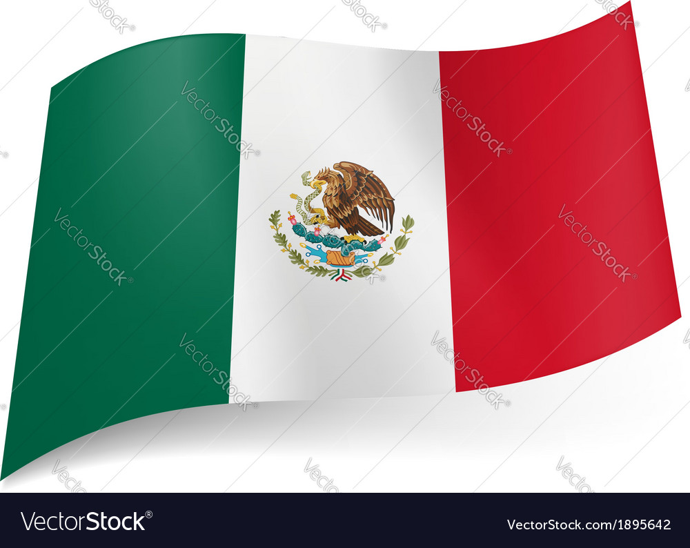 State flag of mexico vector   Price: 1 Credit (USD $1)