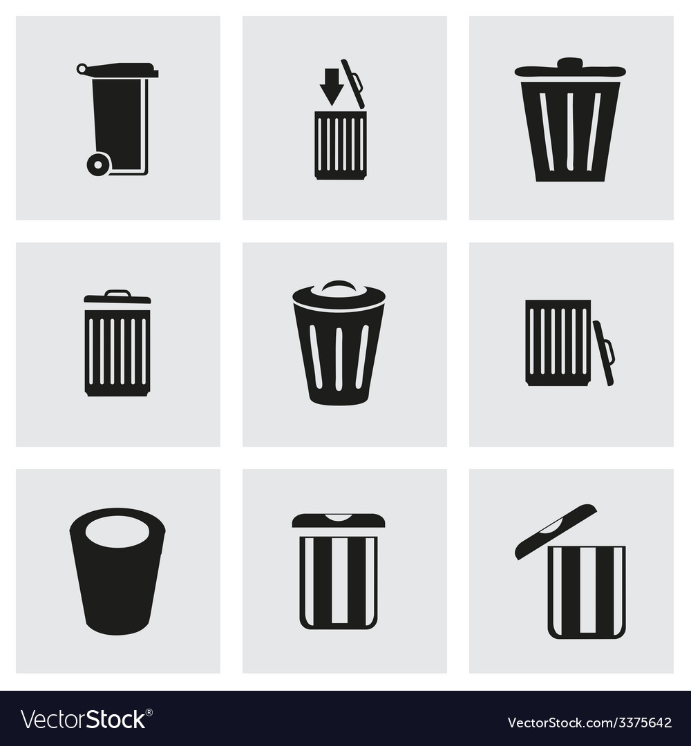 Trash icon set vector | Price: 1 Credit (USD $1)