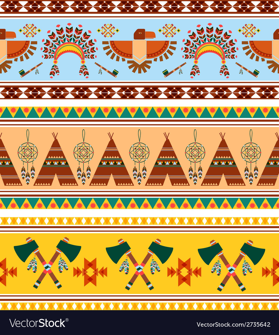 Tribal ethnic vintage background vector | Price: 1 Credit (USD $1)