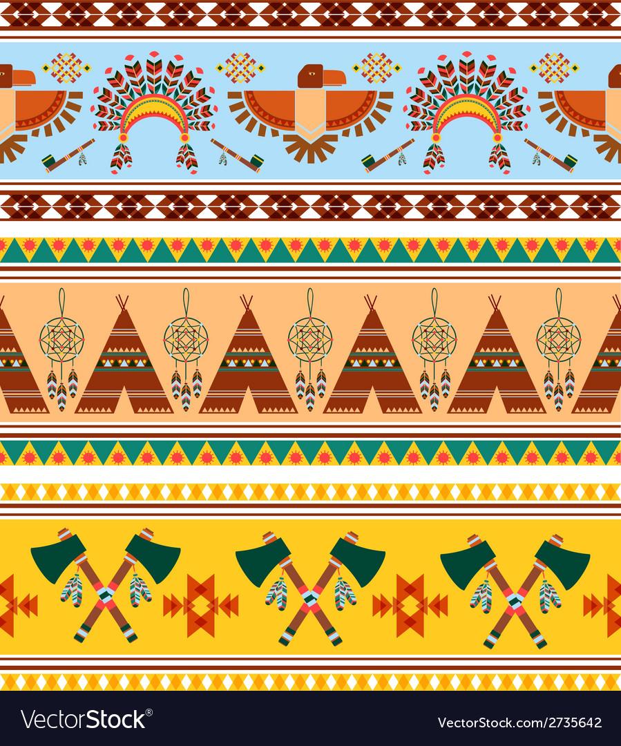 Tribal ethnic vintage background vector | Price: 1 Credit (USD $1)