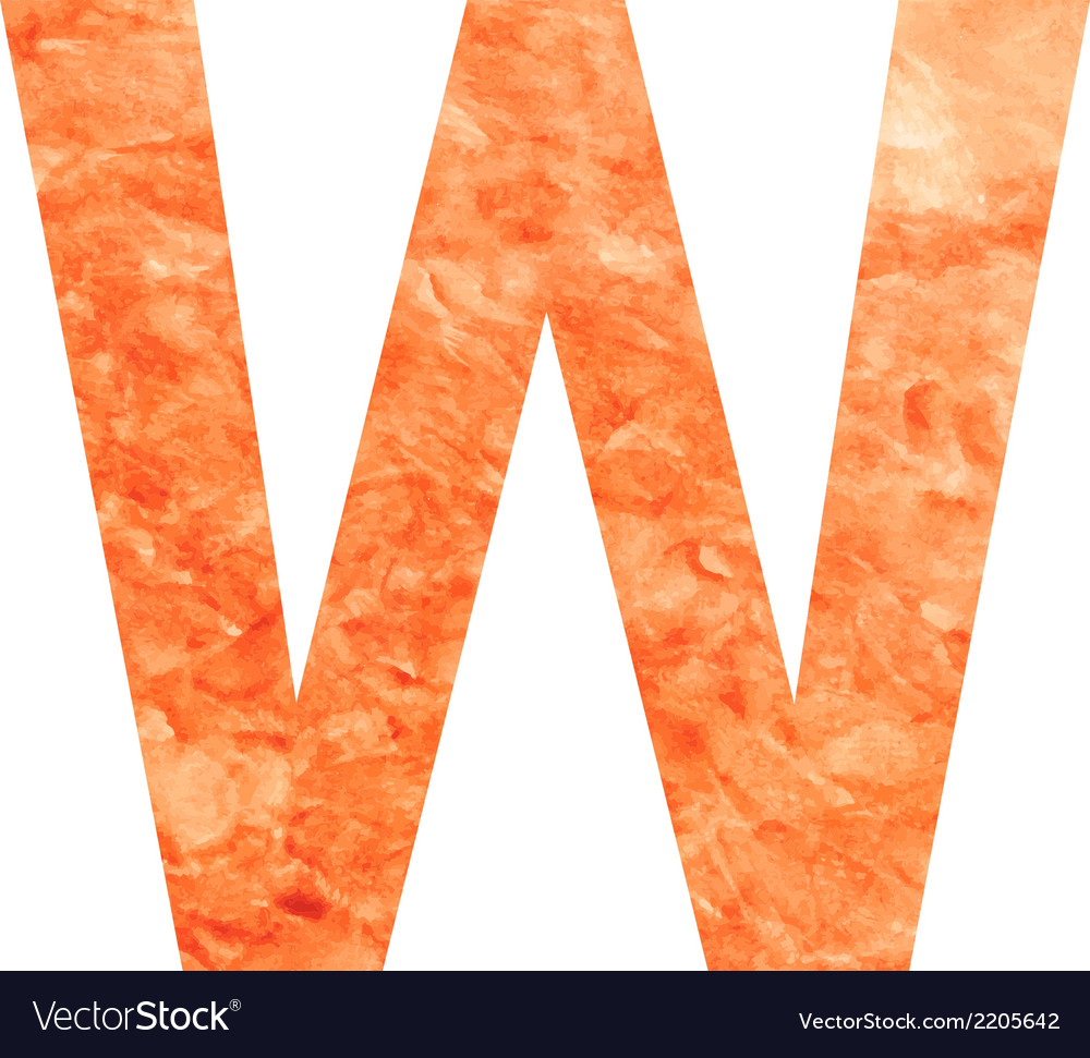 W land letter vector | Price: 1 Credit (USD $1)