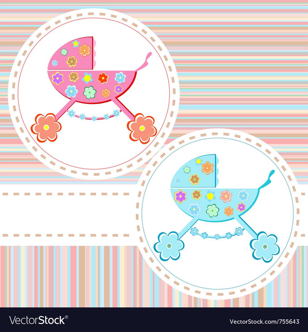 Baby boy arrival vector | Price: 1 Credit (USD $1)