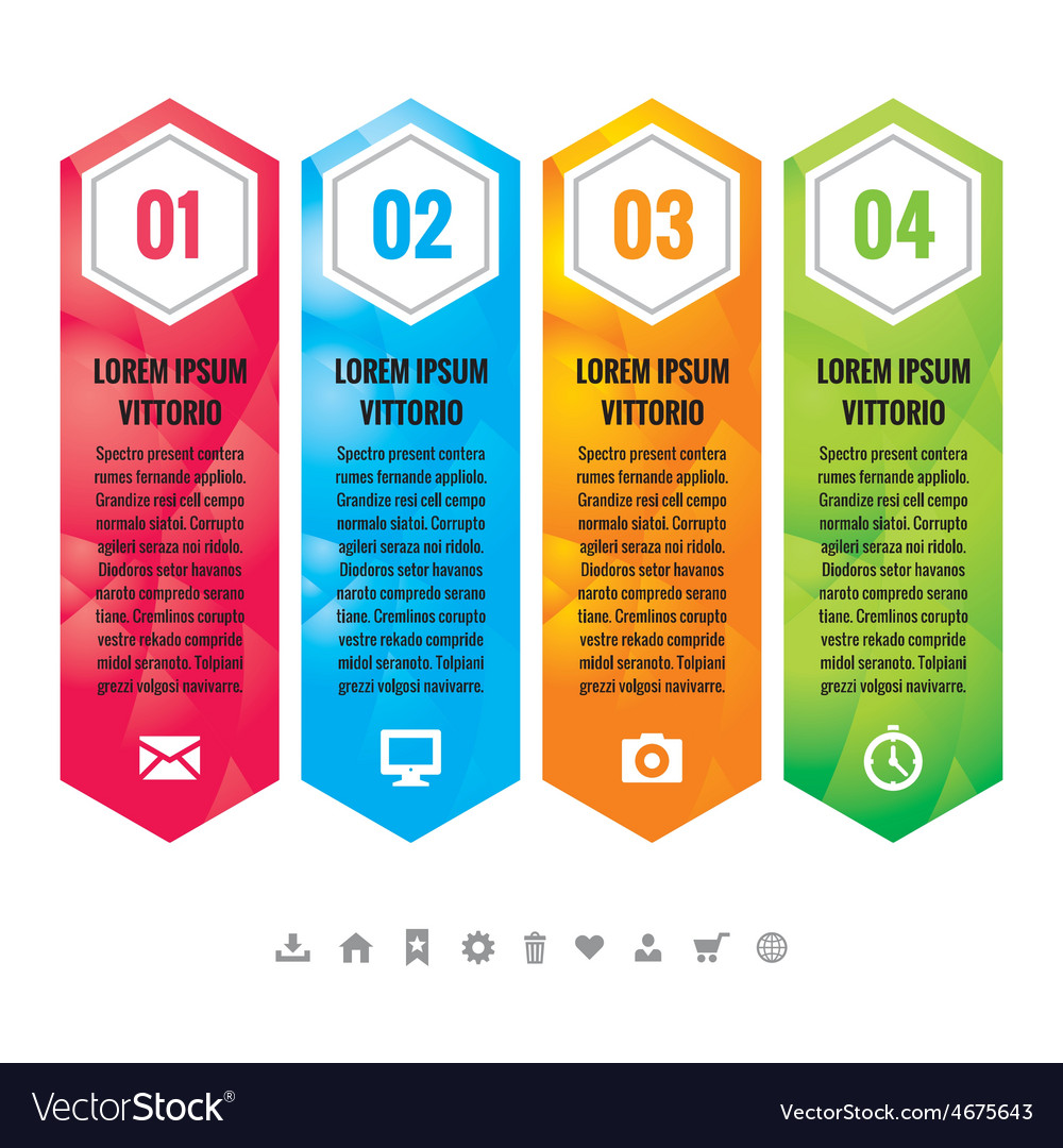 Business infographic concept vertical block vector | Price: 1 Credit (USD $1)