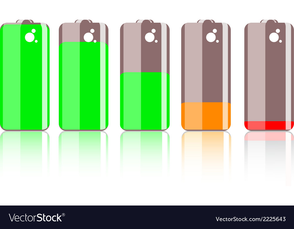 Colorful battery icon vector | Price: 1 Credit (USD $1)