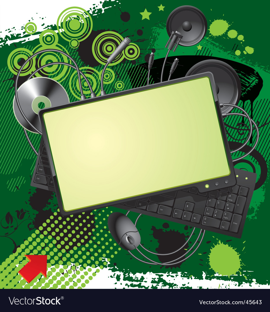 Computer equipment and banner vector | Price: 1 Credit (USD $1)