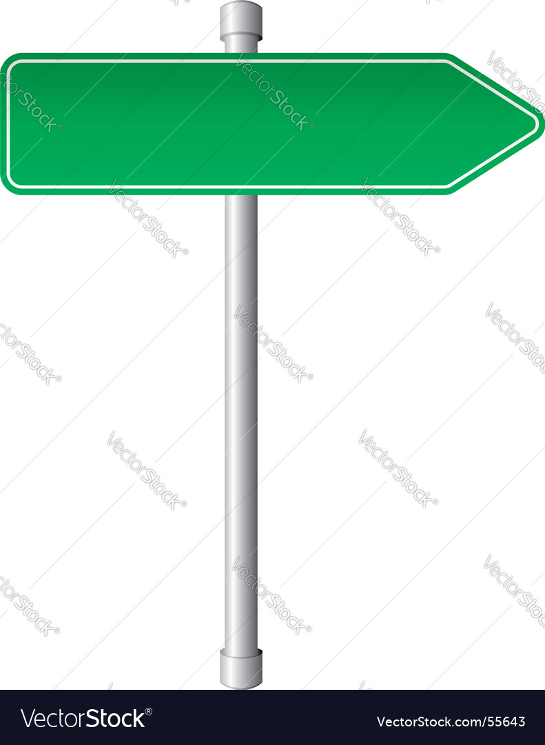 Direction sign vector | Price: 1 Credit (USD $1)
