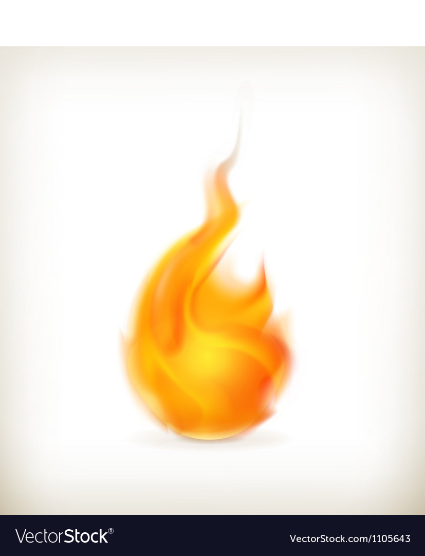 Flame icon vector | Price: 1 Credit (USD $1)