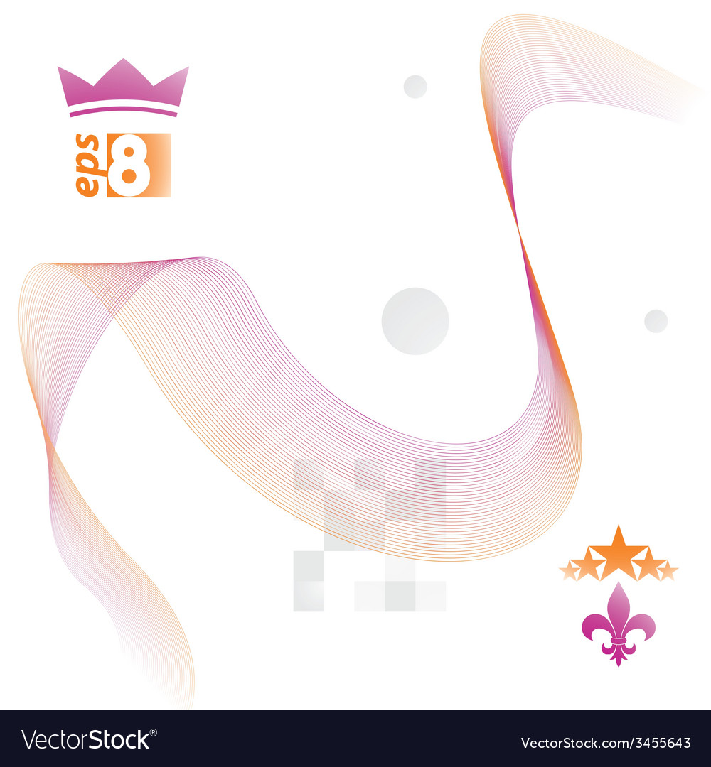 Light soft composition 3d orange wavy decorative vector | Price: 1 Credit (USD $1)