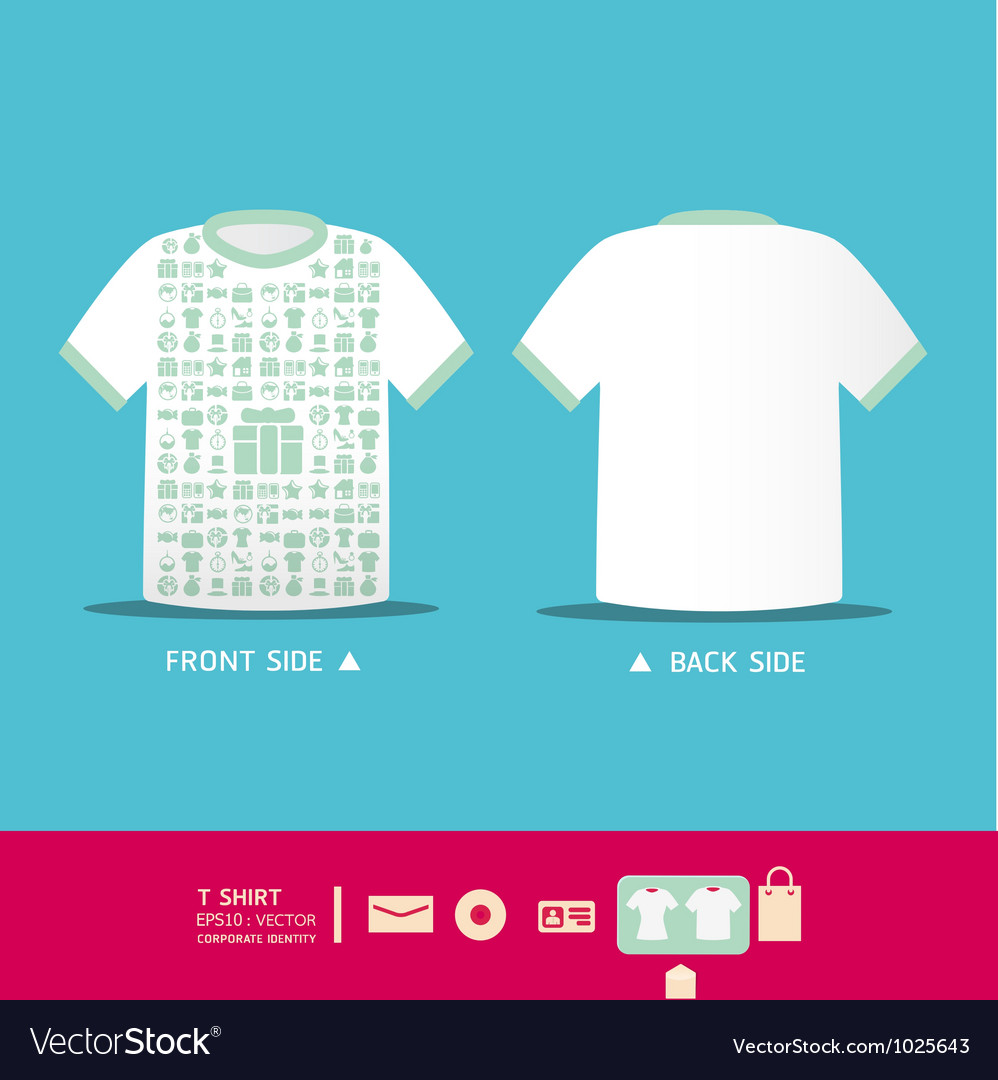 Modern soft color t-shirt design vector | Price: 1 Credit (USD $1)