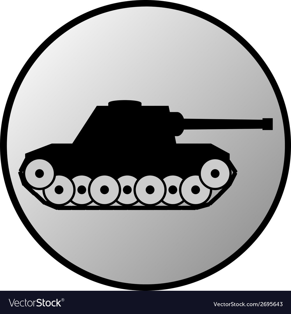 Panzer button vector | Price: 1 Credit (USD $1)