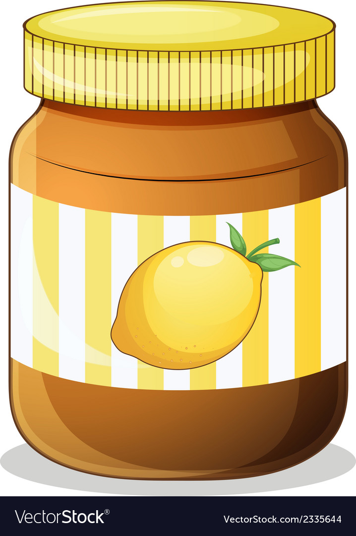 A bottle of lemon jam vector | Price: 1 Credit (USD $1)
